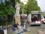 Nepomuki Szent János szobor restaurálása Óbudán 2015