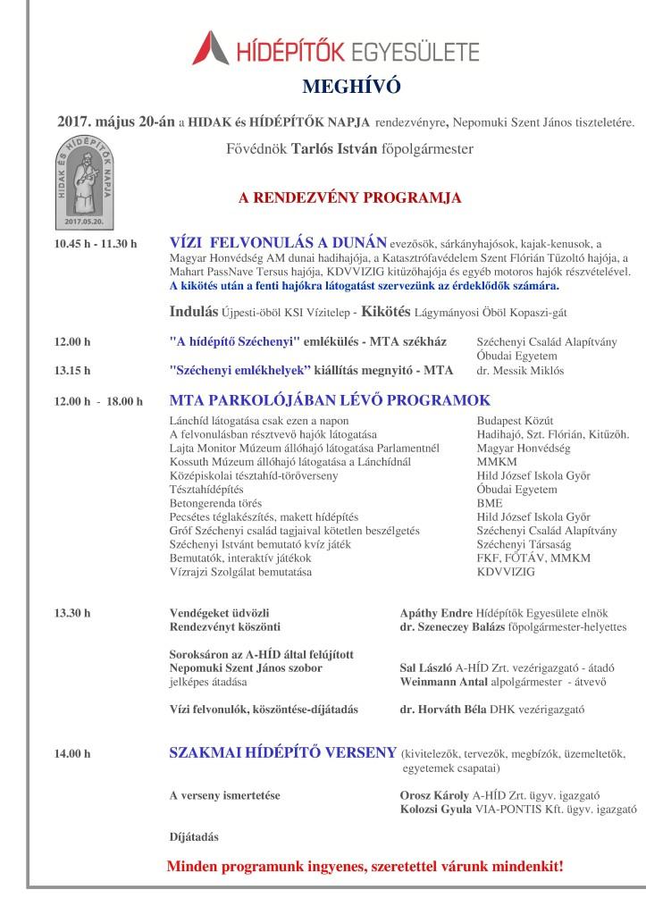 MEGHÍVÓ - Program 2017.05.20